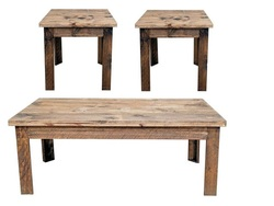 MILLION DOLLAR RUSTIC COFFEE TABLE SET