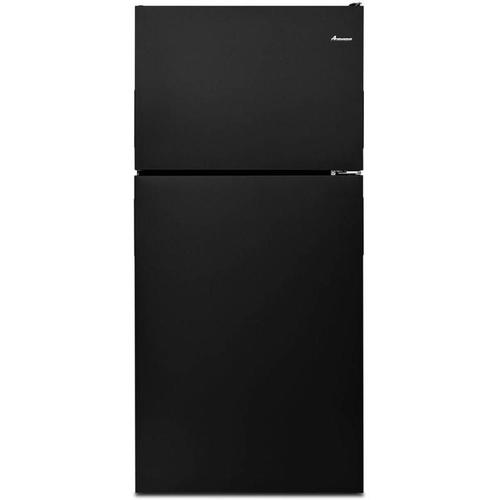 AMANA 18' CU FT BLACK REFRIGERATOR W/GLASS SHELVES