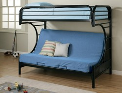 COASTER TWIN/FUTON BLACK METAL BUNK BUNKBED