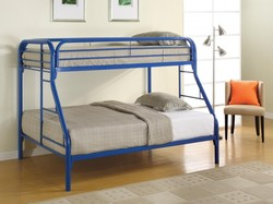 COASTER BUNK TW/TW BLUE METAL BUNKBEDS