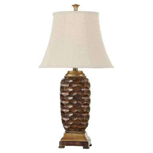 STYLECRAFT GOLDEN BRONZE PINEAPPLE LAMP
