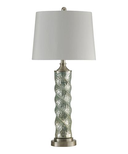 STYLECRAFT BLUE SPIRAL COLUMN GLASS LAMP
