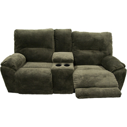 SOFA W/ POWERED RECLINING IN DARK CAMEL