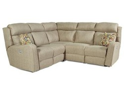 SOUTHERN MOTION TAUPE CORNER DUAL RECLINING MICROFIBER SECTIONAL