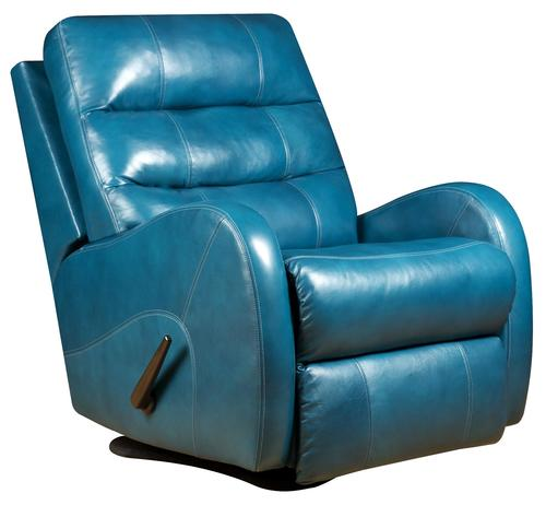 SOUTHERN MOTION BLUE POWER LAYFLAT RECLINER CAPRICE MERMAID Chair and Ottoman