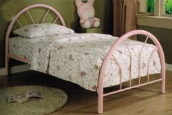 COASTER PINK IRON TWIN BED WITH MATTRESS Children Bedroom Furniture