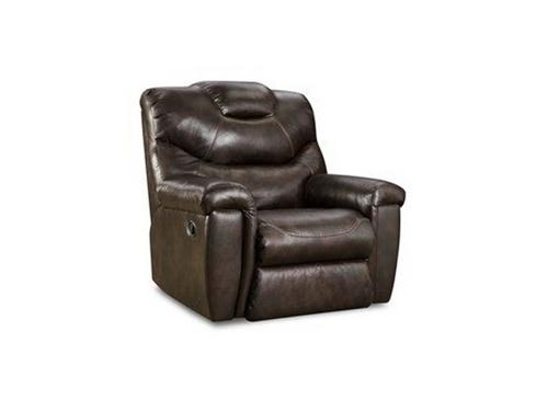 SOUTHERN MOTION RECLINER ROCKER 2TONE BROWN Chair and Ottoman