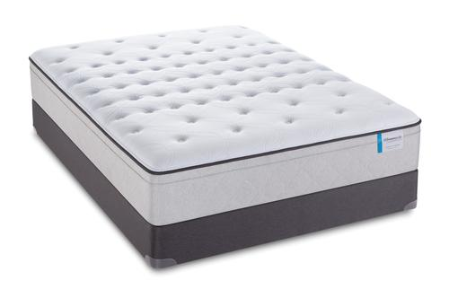 SEALY QUEEN GARNER PLUSH EURO TOP MATTRESS MATT & BOX SPRING