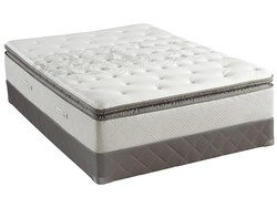SEALY FULL GARNER PLUSH EURO TOP MATTRESS MATT & BOX SPRING