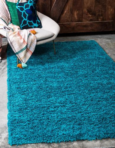 PERSIAN TURQUOISE SHAG 5X8 RUG