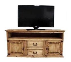 MILLION DOLLAR RUSTIC 60 CHARCOAL GRAY 2 DOOR 2 DRAWER LOW-BOY ENTERTAINMENT STAND