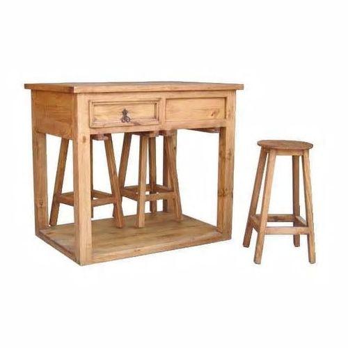 MILLION DOLLAR RUSTIC RUSTIC ISLAND PUB DINETTE WITH 4 STOOLS
