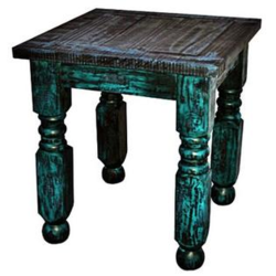 MILLION DOLLAR RUSTIC COF RUSTIC TURQ SCRAPE 1COF 2ENDS COFFEE/END TABLE