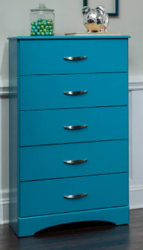 KITH FURNITURE TURQUOISE 5 DRAWER CHEST