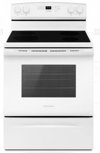 AMANA SMOOTHTOP SELF CLEAN STOVE WHITE