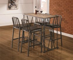 BAR HEIGHT DINETTE WITH 4 STOOLS BY COASTER