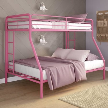 DONCO TWIN/FULL BUNKBED IN PINK
