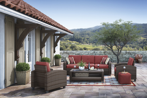 ASHLEY MEADOWTOWN 4-PIECE OUTDOOR SET