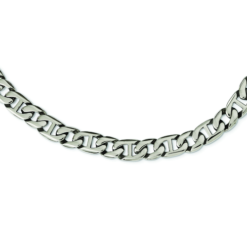 STAINLESS STEEL POLISHED LINKS NECKLACE
