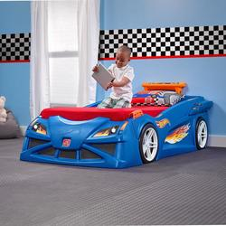 STEP 2 HOT WHEELS TWIN PLASTIC KIDS BED