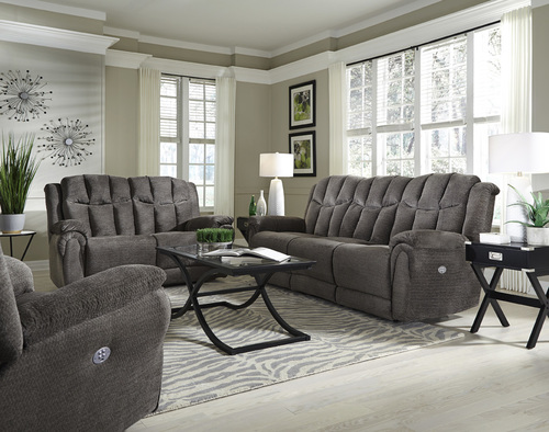 HIGH PROFILE RECLINING SOFA AND LOVE-SEAT BY SOUTHERN MOTION