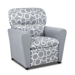 GRAY TWEEN RECLINER CIRCLE DESIGN