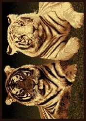 BENGAL AND WHITE TIGER RUG
