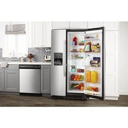 24.5CUFT WHITE SXS FRIDGE W/ICE & WATER DISPENSER