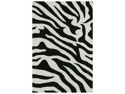 BLACK/WHITE ZEBRA RUG