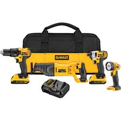 20V LITHIUM 4PC TOOL SET DRILL/IMPACT/SAW/FLSHLGHT