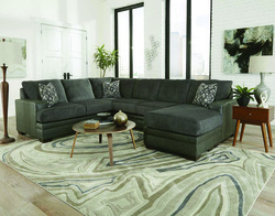 Delta 2720 Stallion Charcoal Sectional