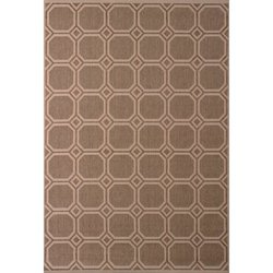 5X8 RUG BROWN MOSAIC TILE DESIGN