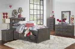 TWN HDBOARD 5 DRW CHEST & NIGHTSTAND DRIFTWOOD