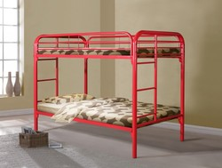 TWIN/TWIN RED METAL BUNK