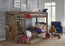 GRAY STAIRCASE BUNKBED TWIN / TWIN