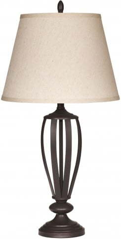 Ashley-BRONZE OIL-RUBBED METAL 2 PIECE LAMPS