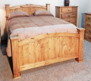 MILLION DOLLAR RUSTIC QUEEN MANSION BED