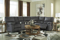 ASHLEY - CHARCOAL RECLINING SECTIONAL