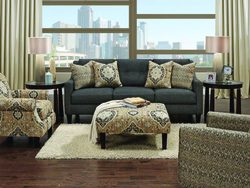 CHARCOAL SOFA & LOVE SEAT W/ACCENT PILLOWS