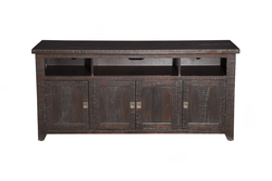 "MARTIN SVENSSON - DARK 65"" ROUGH FINISH W/4DOORS AND 3 OPEN SHELVES"