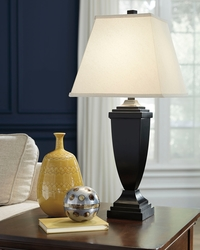 ASHLEY-BRONZE AMERIGIN LAMPS W/SQUARE HARDBACK SHADE