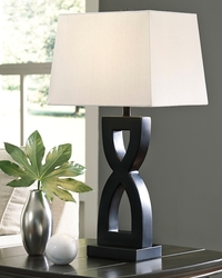 Ashley-BLACK FIGURE 8 SHAPED LAMPS SET OF2