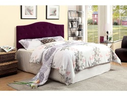 FURNITURE OF AMERICA - TWIN PURPLE UPHOLSTERED HEADBOARD W/TUFTED BUTTONS