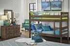 SIMPLY BUNK BED - TWIN/TWIN BUNKBED CHESTNUT