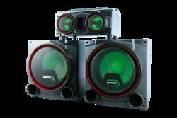 """GEMINI- 2X12"""" WOOFER 2X4"""" DRIVERS LIGHTS, MIC,BT,FM,USB,SD"""