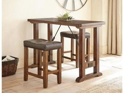 "STEVE SILVER - MOCHA 3PC COUNTER HT DINETTE 54""X24""X36 W/2 STOOLS"