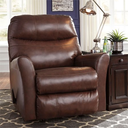 PRANAV BROWN LEATHER RECLINER BY ASHLEY
