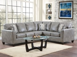 COLLUMS BONDED LEATHER CORNER SECTIONAL