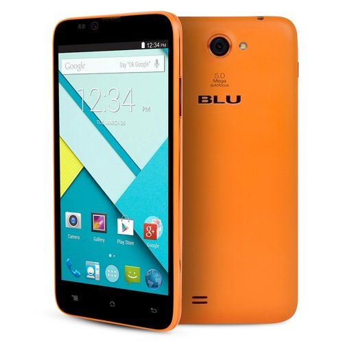 BLU 5.5 INCH ANDROID PHONE - ORANGE
