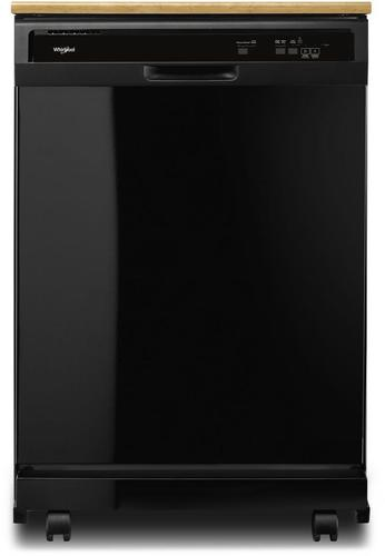PORTABLE BLACK 3 CYCLE DISHWASHER BY WHIRLPOOL